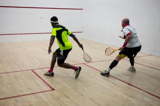 Men playing squash